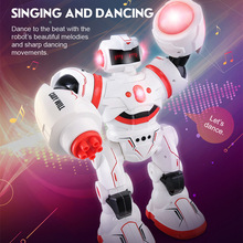 Smart battle robot toy fight dance light voice Intelligent remote control gesture induction children fighting educational toys