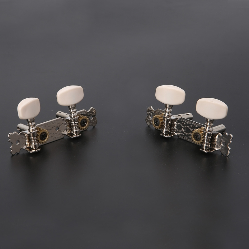 1Pair 2R2L Tuning Pegs Machine Heads Tuner For Ukulele 4 String Classical Guitar M7DC