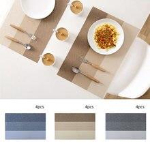 4 шт термоизоляционные коврики для обеденного стола из ПВХ дома