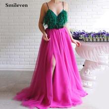 Smileven ярко розовые платья для выпускного вечера 2020 вечерние