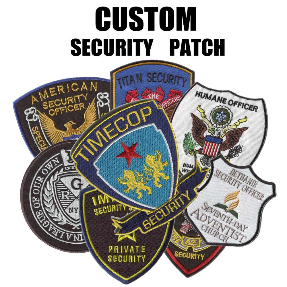 Reasonable Price Custom Security Patches Embroidery Patches For Clothing Sewn-on Backing Uniform Patch