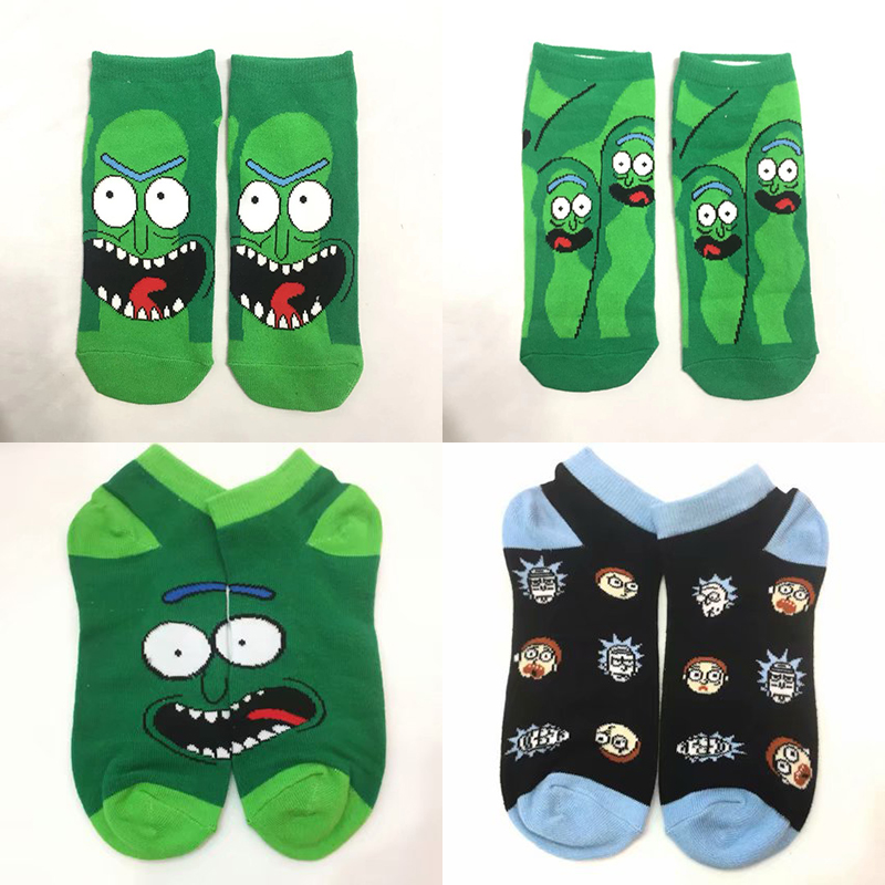 Colorful Cartoon Short Socks Rick And Morty Cosplay Dress Socking Tight Cute Fashion Ankle Casual Sock Gift