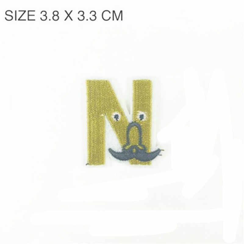 1 pc twinkle nariz n remendos alfabeto letra A-Z ferro bordado no remendo para a roupa crachá colar para saco de costura calça