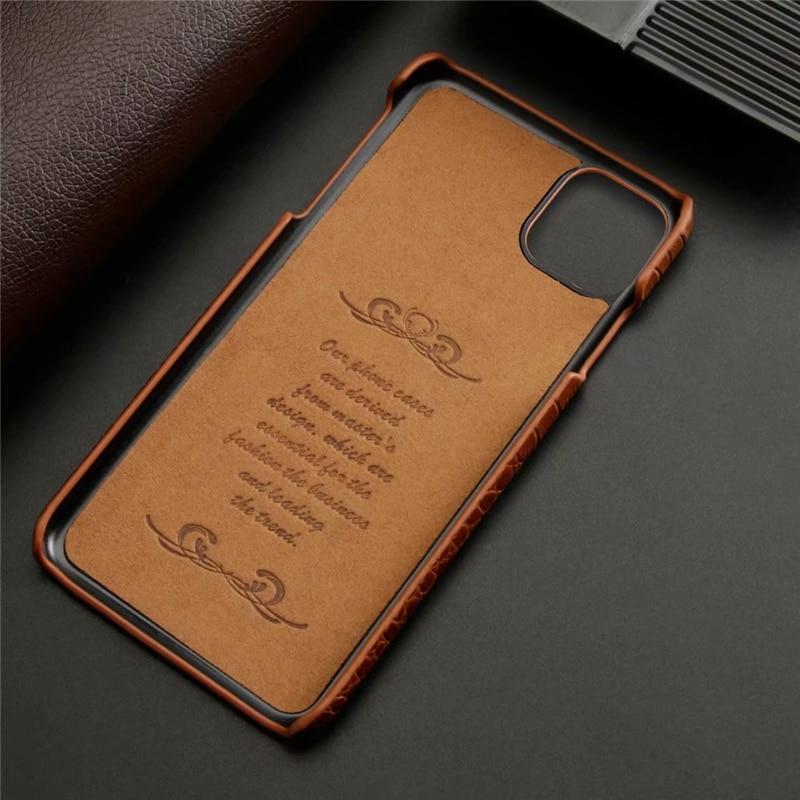 Genuine Leather Crocodile Grain Case for iPhone 11/11 Pro/11 Pro Max 1