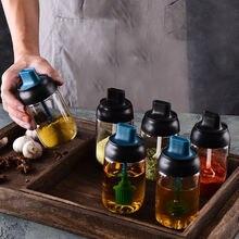 Кухонная Стеклянная Герметичная Бутылка для приправ крышка ложки