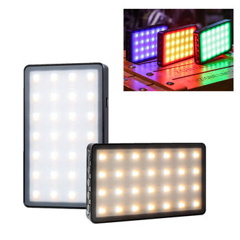 Viltrox Weeylife RB08P RGB LED Camera Video Light 0-360 Full Color Output Video Light Dimmable 2500K-8500K Bi-Color Panel Light