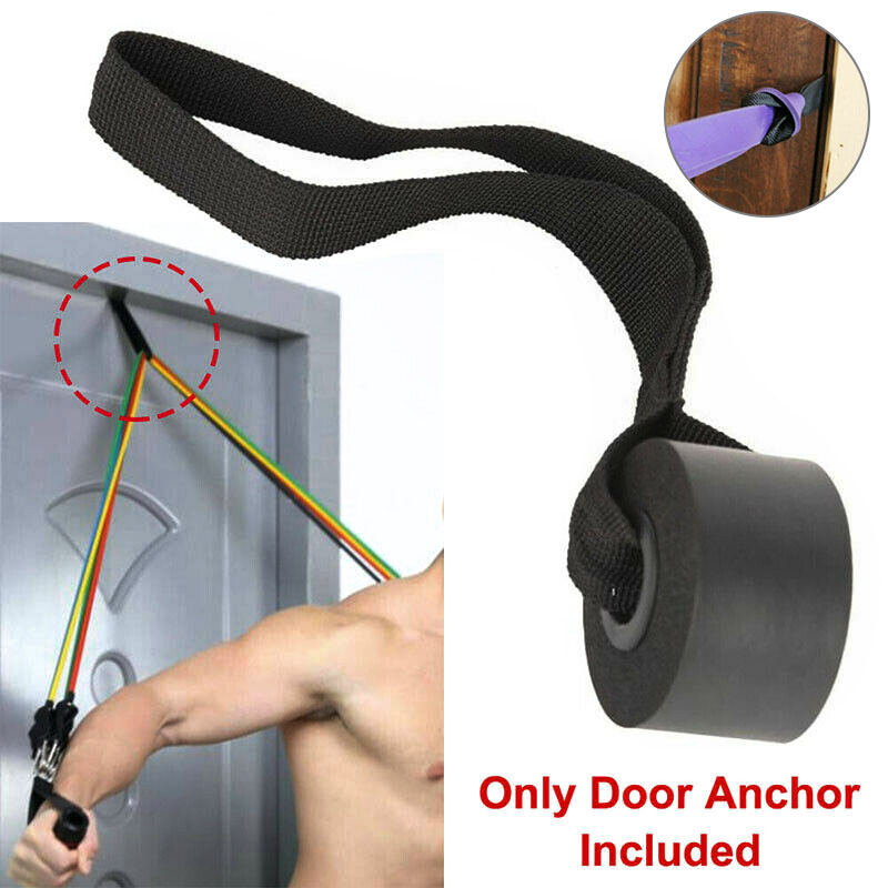 Home Exercise Yoga Over Door Anchor Fitness Resistance Bands Elastic Band Tube Training Door Pull Rope Buckle