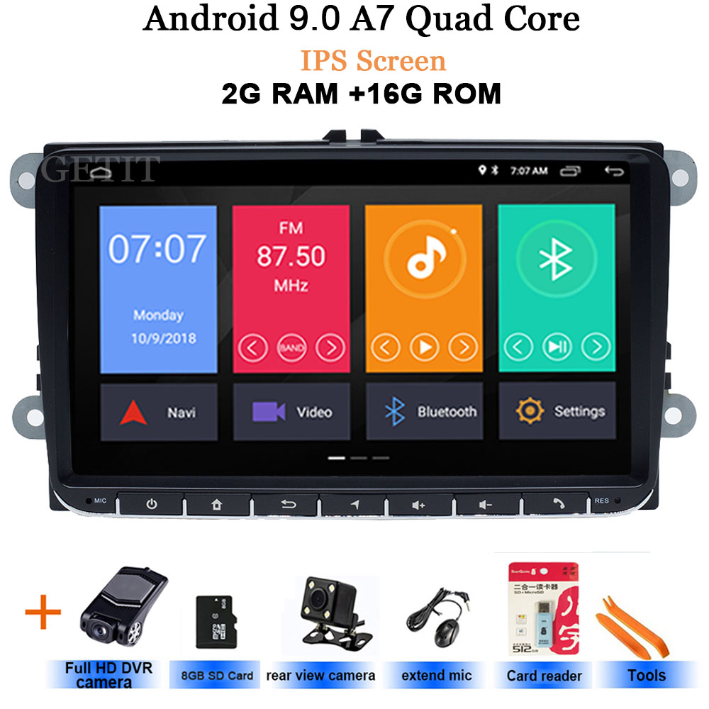 Car DVD player For Seat Altea Leon Toledo volkswagen VW Passat Skoda Series GPS stereo audio navigation,Android 8.1,2 DIN Redio