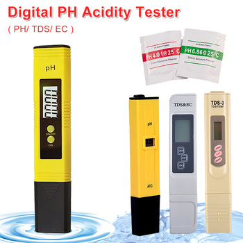ph tester tds Portable Digital PH /TDS/ EC Tester Pen 0.0-14.0 PH /0-9990ppm Water Purity for Aquarium Lab Fishing Industry Food PH Monitor