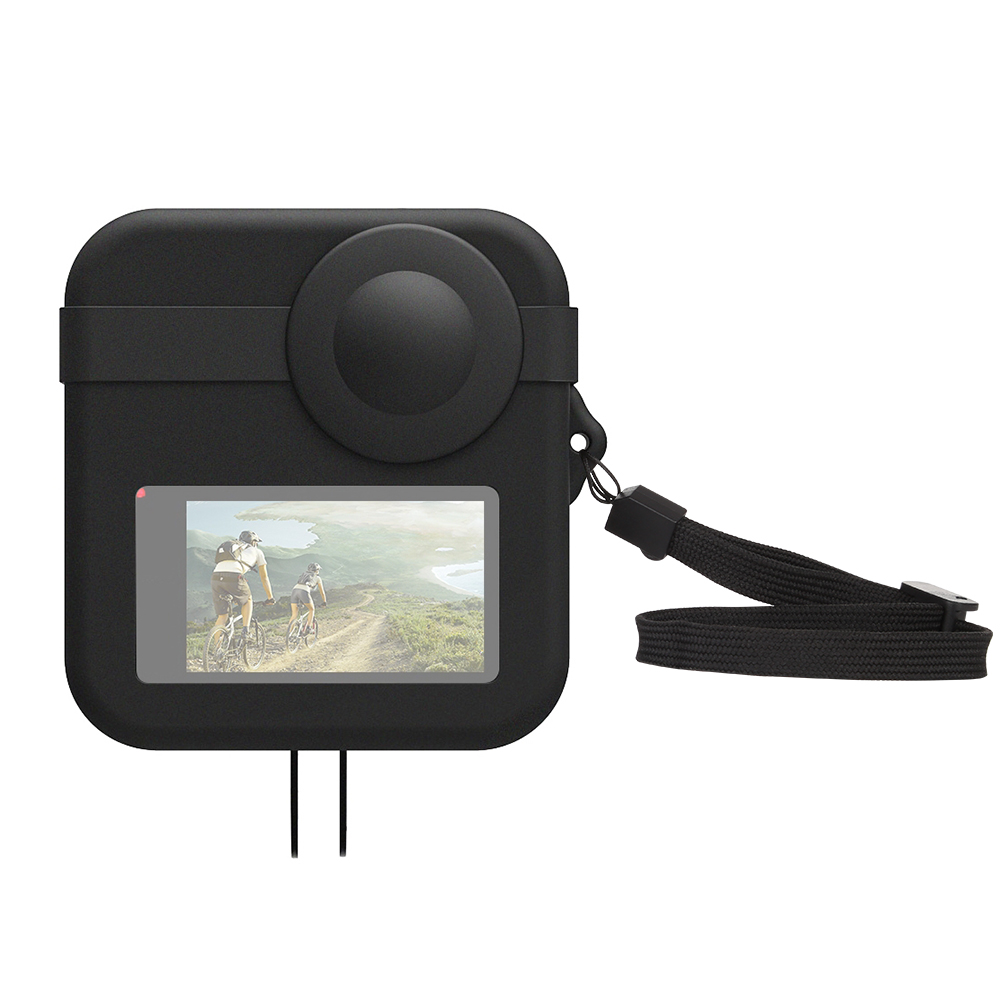 Black PULUZ for GoPro Fusion Dual Lens Silicone Protective Case