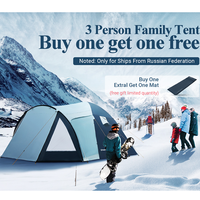 KingCamp Weekend Series Portable Durable Waterproof Breathable 2 3 4 Person Family Camping Dome Tent with Screen room