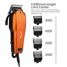 CkeyiN Professional Hair Clipper Length Adjustment Wired Electric Trimmer Powerful Stainless Steel Blade Hair Cutting Machine