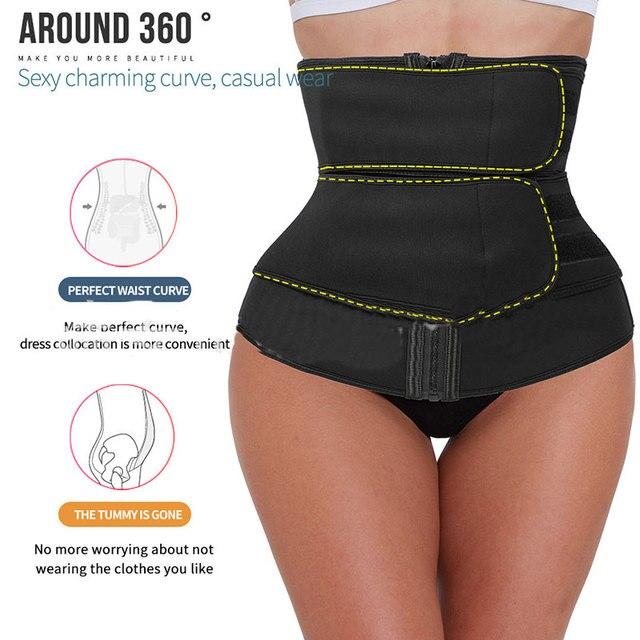 Men Women Tummy Waist Trainer Cincher Sweat Belt Trainer Hot Body Shaper Slim Shapewear Sweat Belt Waist Cincher Trainer 2020 3