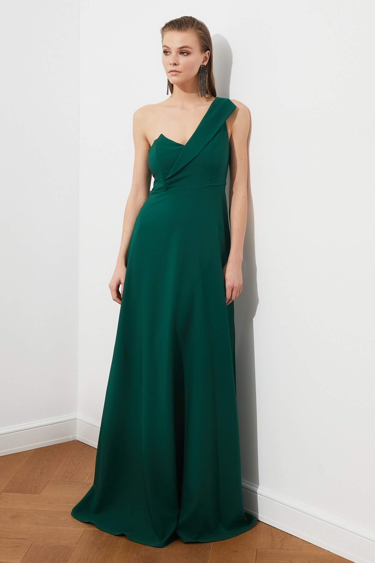 Trendyol Collar Detail Evening Dress Dress TPRSS19UT0054