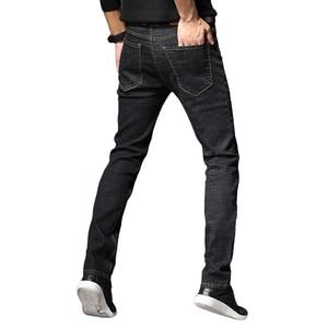 Image 3 - 2019 Nieuwe Mannen Klassieke Jeans Elastische Skinny Effen Kleur Denim Jean Mannelijke Blauw Slim Fit Broek Merk Kleding