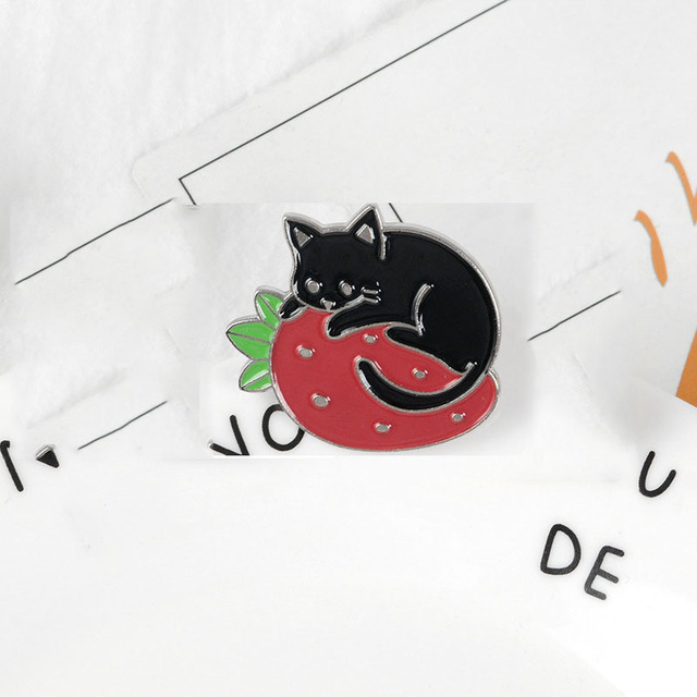 3D Detailed Cat Face Metal Pin Badge cat lover kitten feline AJTP360