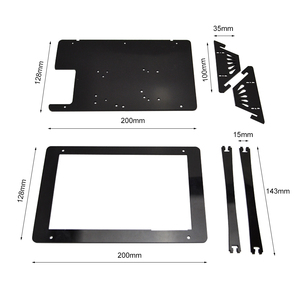 Image 5 - Raspberry Pi 7 Inch LCD Touch Screen Case high quantity black and white Screen Case ,only include the case