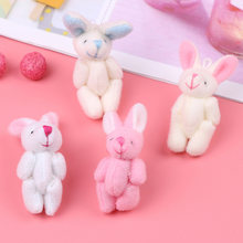 1x Мини прибл 4 см Совместная кролик маленькое плюшевое плюшевые
