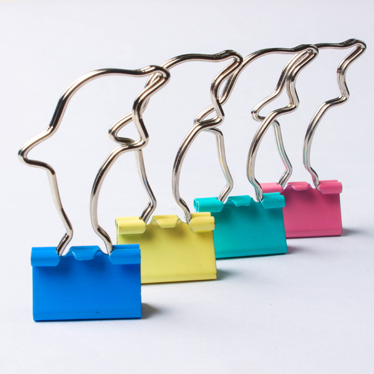 Popular Series Dolphin Binder Clip Dovetail Clip Special Shape Binder Clip Color Binder Clip A Generation Of Fat Ban Gong Jia