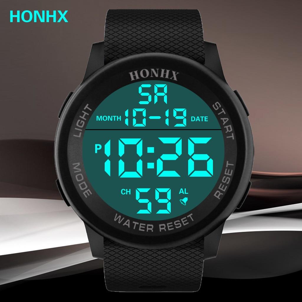 HONH Luxury Electronic Watch Men Fashion Trend HOT Digital Military Sport LED 3Bar Waterproof наручные часы Sports Wrist Watch