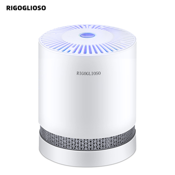 RIGOGLIOSO Air Purifier For Home True HEPA Filters Compact Desktop Purifiers Filtration with Night Light Air Cleaner GL2109 negative ion generator air purifier for home with true hepa filter desktop mini air ionizer compact air cleaner for home