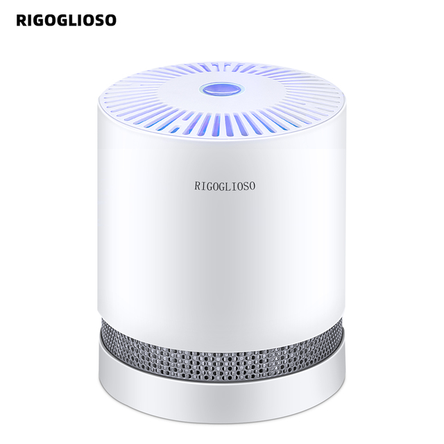 $ US $53.20 RIGOGLIOSO Air Purifier For Home True HEPA Filters Compact Desktop Purifiers Filtration with Night Light Air Cleaner GL2109