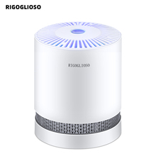 RIGOGLIOSO GL2109 purificateur dair pour maison, véritables filtres HEPA, purificateurs de bureau compacts, Filtration avec veilleuse, nettoyeur dair