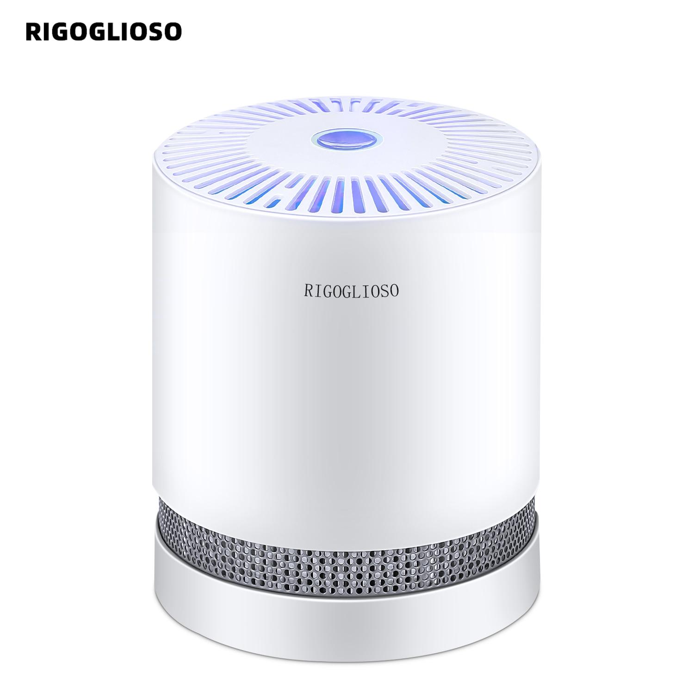 RIGOGLIOSO Luftreiniger Für Home Echter HEPA-Filter Kompakte Desktop Reiniger Filtration mit Nacht Licht Luft Reiniger GL2109