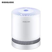 RIGOGLIOSO purificador de aire para el hogar, filtros HEPA compactos de escritorio, filtración con luz nocturna, GL2109