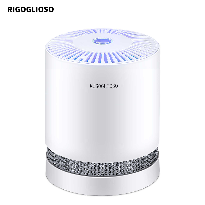 جهاز تنقية الهواء من RIGOGLIOSO يصلح للمنازل صحيح فلاتر هيبا أجهزة تنقية سطح المكتب المدمجة مع منقي هواء خفيف ليلي GL2109