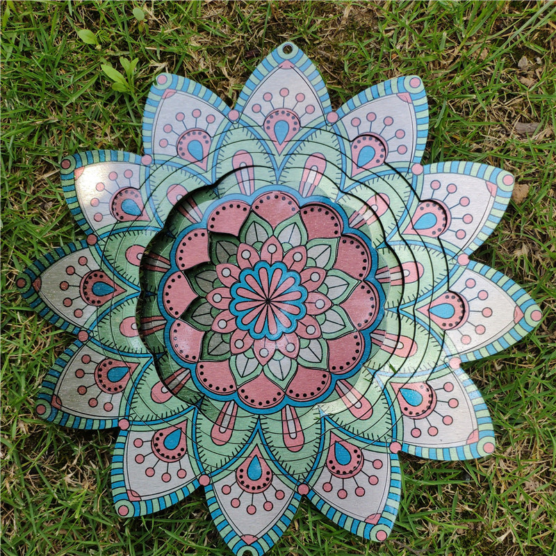 10 inch wind spinner made from 1mm stainess steel sheet with high quality,charming and attractive decoration at home or garden