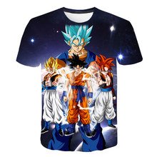 New fashion anime Dragon Ball series 3D printed cartoon Harajuku T-shirt summer kids short-sleeved boys girls plus size t shirt