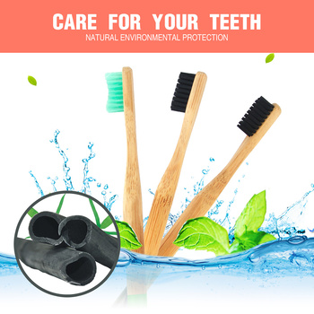 Bamboo Charcoal Toothbrush Soft Bristles Teethbrush Eco-Friendly Oral Care Natural Tooth Brush for Adults image
