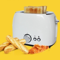2 Slices Stainless Steel Toaster Automatic Fast Heating Bread Toaster Household Breakfast Maker Christmas Gift Eu Plug