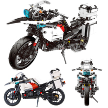 1075PCS City Police Patrol Motorcycles Model Building Blocks Technic Series Motorbike Set Blocks Bricks Toys For Kids Adult bevle gudi 9316 city police series mobile police station model building blocks bricks model bricks gift for children city toys