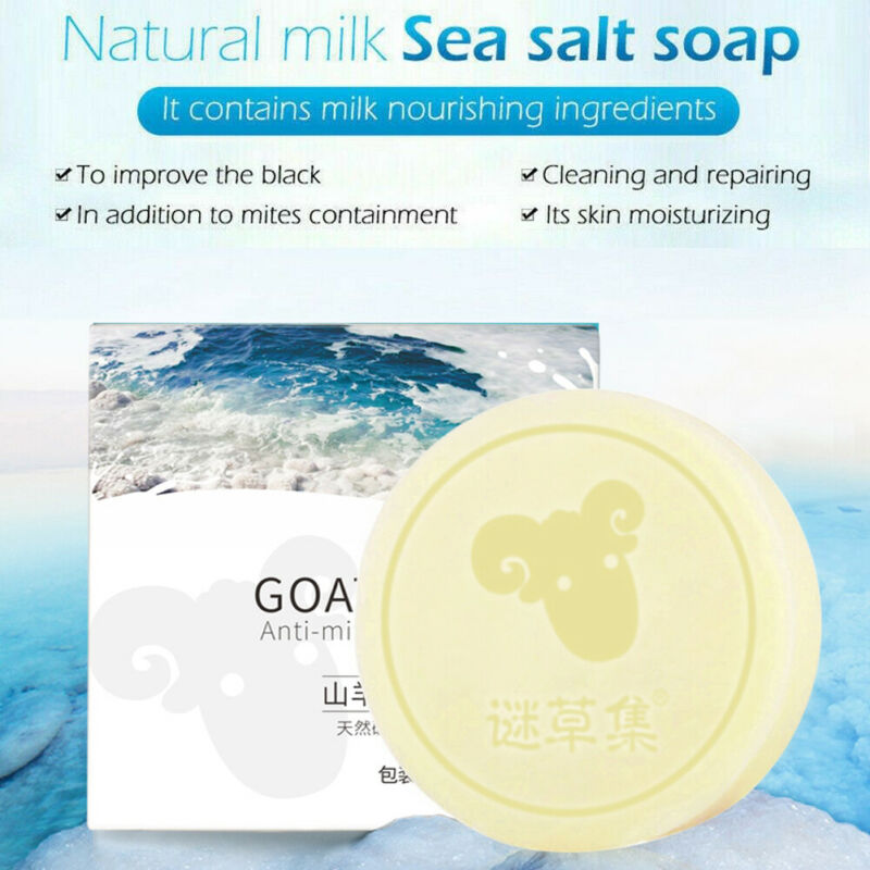 90g Dead Sea Salt Soap Homemade Handmade Cold Process All Natural Unscented Sterilizing Cleansing  Moisturizing Soap