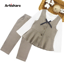 Girls School Clothes Plaid Pattern Teenage Girls Clothing Casual Clothes For Girls Teenage Kids Girls Clothes 6 8 10 12 14 Year