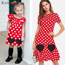 KANCOOLD kleid Erwachsene Frauen Cartoon Dot Print Beiläufige Lose Kleid Familie Passenden Outfits Set mode neue kleid frauen 2019DEC18(China)