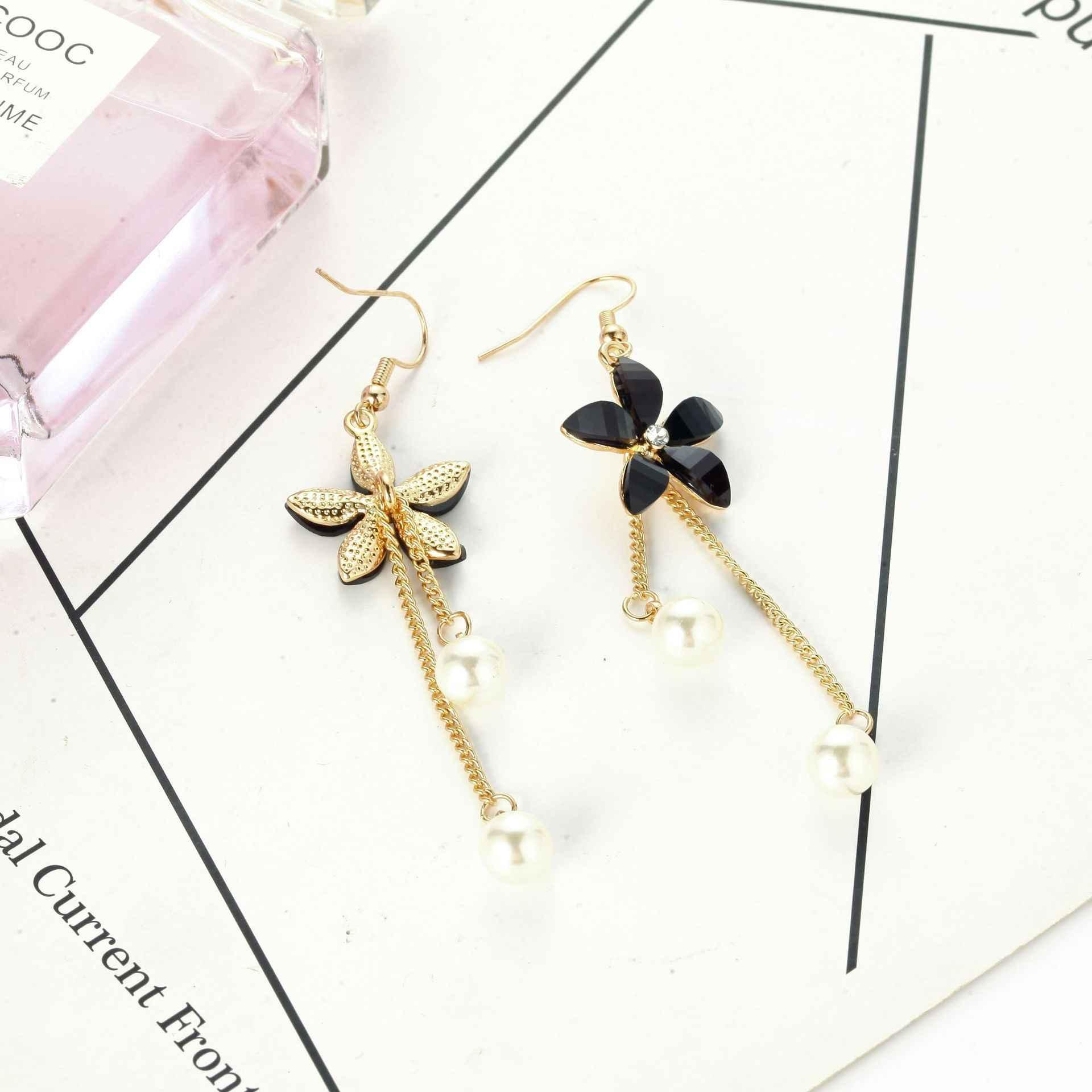 2019 spersonalizowane perła kolczyk kwiat proste joker wisiorek długie kolczyki prezent urodzinowy dla kobiet