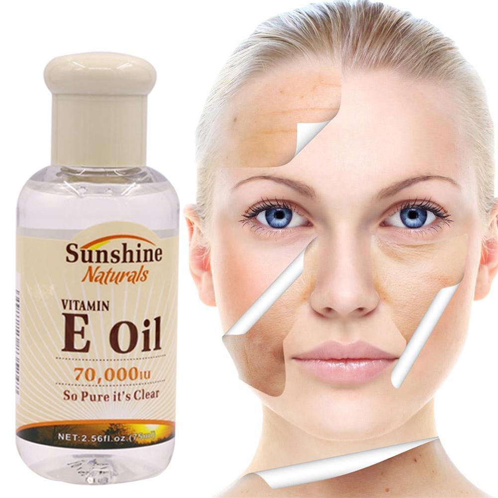 75ml Natural Vitamin E Oil Morning And Evening Essential Serum Wrinkles Face Whitening Anti-cracking Whitening Anti Oil T0E5