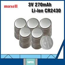 50PC 100% Maxell Genuíno CR2430 2 PÇS/LOTE 3V Bateria De Lítio Botão Baterias Celulares Watch/Brinquedos/Controle Remoto DL2430 BR2430 KL2430