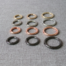 20 pcs Metal spring gate O ring buckle openable keyring car key chain leather bag belt strap snap clasp pendant accessories 1pc metal spring gate o ring openable keyring leather bag belt strap buckle dog chain snap clasp clip trigger luggage