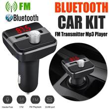 2.1A Wireless USB Car Charger FM Transmitter Hands free Call Bluetooth Car Kit Car MP3 Music Player Support TF Card(China)