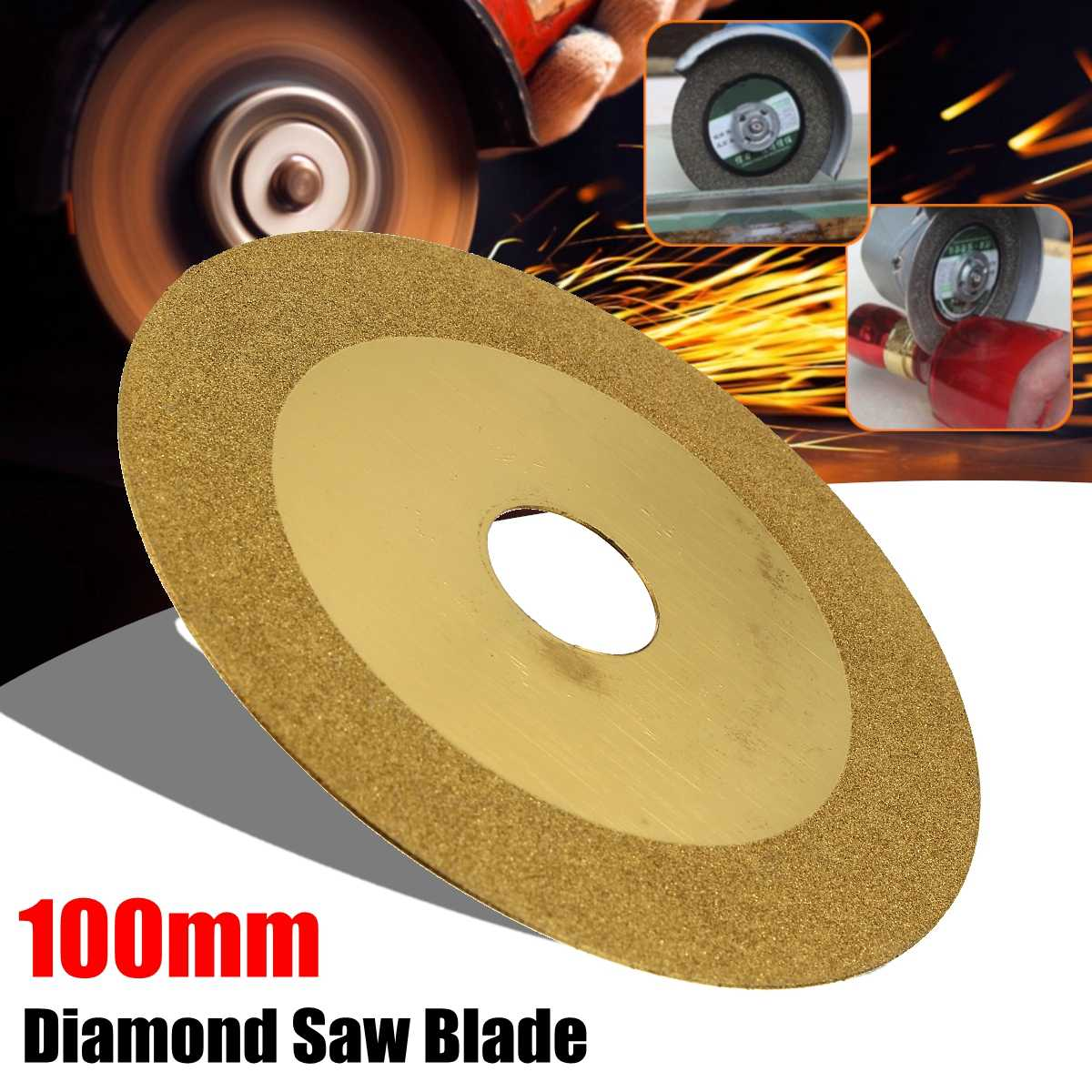 100x20mm Diamond Saw Blades Wheel Cutting Discs & Drill Bit For Dremel Rotary Tool Glass Metal Glass Stone