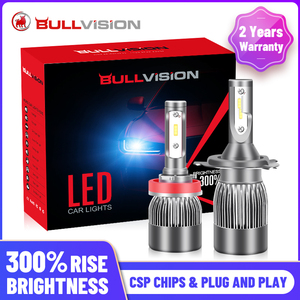 BULLVISION H11 H4 H7 Led 12V Mini 9005 9006 Headlights Lamp 12000Lm High Brightness H8 H9 Hb3 Hb4 Led Car Lights Bulbs Turbo Csp(China)