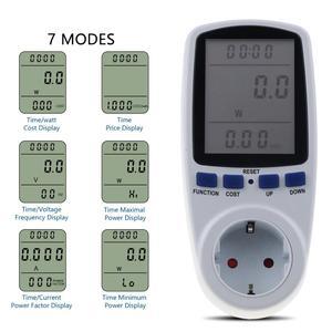 Image 4 - Kebidu medidores de potencia de CA de 230V, vatímetro Digital de toma, medidor de consumo de energía de vatios, Analizador de electricidad, Monitor EU