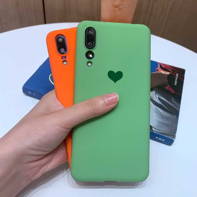 Candy Color Love Heart Phone Cases For Huawei P30 P20 Mate 10 20 Pro Lite Nova 3 3i 4 4e 5 5i Pro Soft TPU Silicone Case Cover