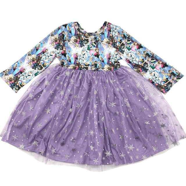 Best selling children's clothes cute princess lace children princess twirl dress image