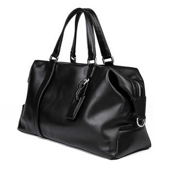 Genuine Leather Travel Bag European Style Design Cowhide Women Men Weekend Bag Handbag 6007A - DISCOUNT ITEM  35 OFF Luggage & Bags