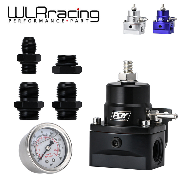 WLR RACING   AN8 고압 연료 조절기 부스트 8AN 8/8/6 EFI 연료 압력 게이지 WLR7855